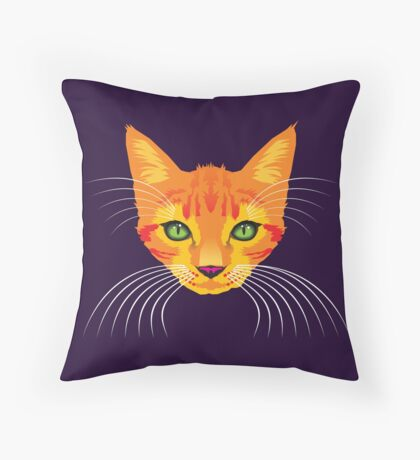 Orange Cat Check ME Out! Throw Pillow