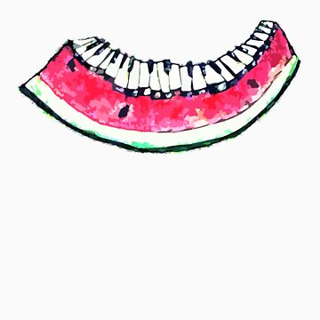 Watermelon Piano by dc317