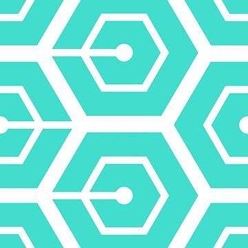 Geometric Pattern: Linked Hexagon: Blue by redwolfoz