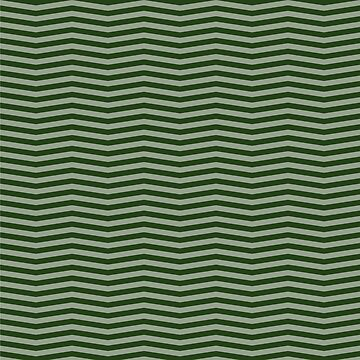 Dark Forest Green Chevron Zigzag Stripes by podartist