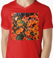 Red Tulips of Istanbul Men's V-Neck T-Shirt