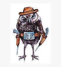 cowboy owl Photographic Print