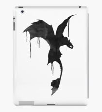 Toothless Silhouette - Ink Drips iPad Case/Skin