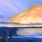 SUNSET ON THE OCEAN  by JoAnnHayden