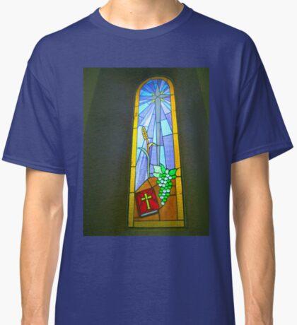 Buntglas-Fenster Classic T-Shirt