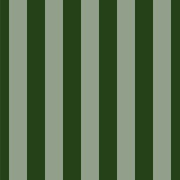 Large Dark Forest Green Circus Tent Stripes by podartist