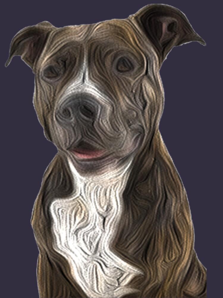 Pit Bull Terrier Ölgemälde-Art von ProjectMayhem