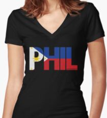 Phil Apino Fitted V-Neck T-Shirt
