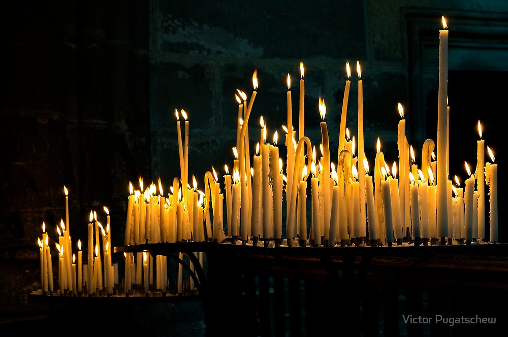 Reims Cathedral Candlelight by Victor Pugatschew