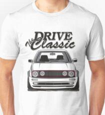 Camiseta unisex Golf 2 GTI MK2 & quot; Conduce el clásico & quot;