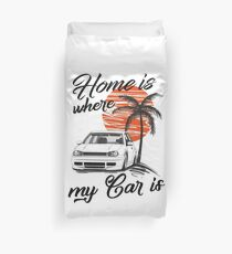 """Golf 4 MK4 """"home is where my car is & quot; Duvet Cover"""