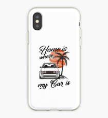 Vinilo o funda para iPhone Golf 2 GTI MK2 & quot; casa es donde está mi auto & quot;