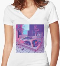 s p i n n i n g w a v e Women's Fitted V-Neck T-Shirt