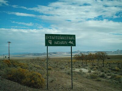ExtraTerrestial Highway Sign by Trey Morgan