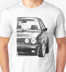 """Camiseta unisex Golf 2 GTI MK2 """"Estilo de dibujo"""""""
