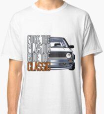 Golf 2 MK2 & quot; Fuck the Plastic & quot; Classic T-Shirt