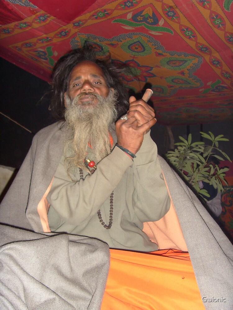 Sadhu, Agra India 2008 by Gwionic