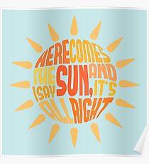 Hier kommt die Sonne Poster