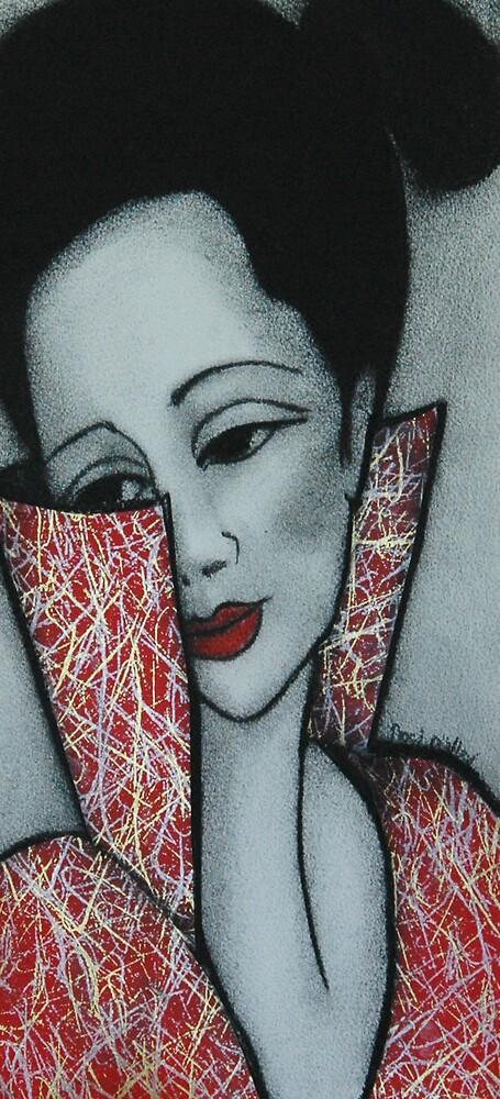 Eva in a Red Dress by Noel Miller