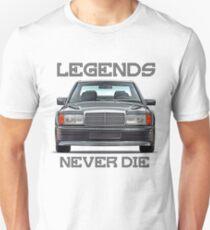 W201 & quot; Legends Never Die & quot; Unisex T-Shirt