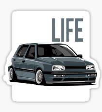 "Golf MK3 MK3 ""Low Life"" Sticker"