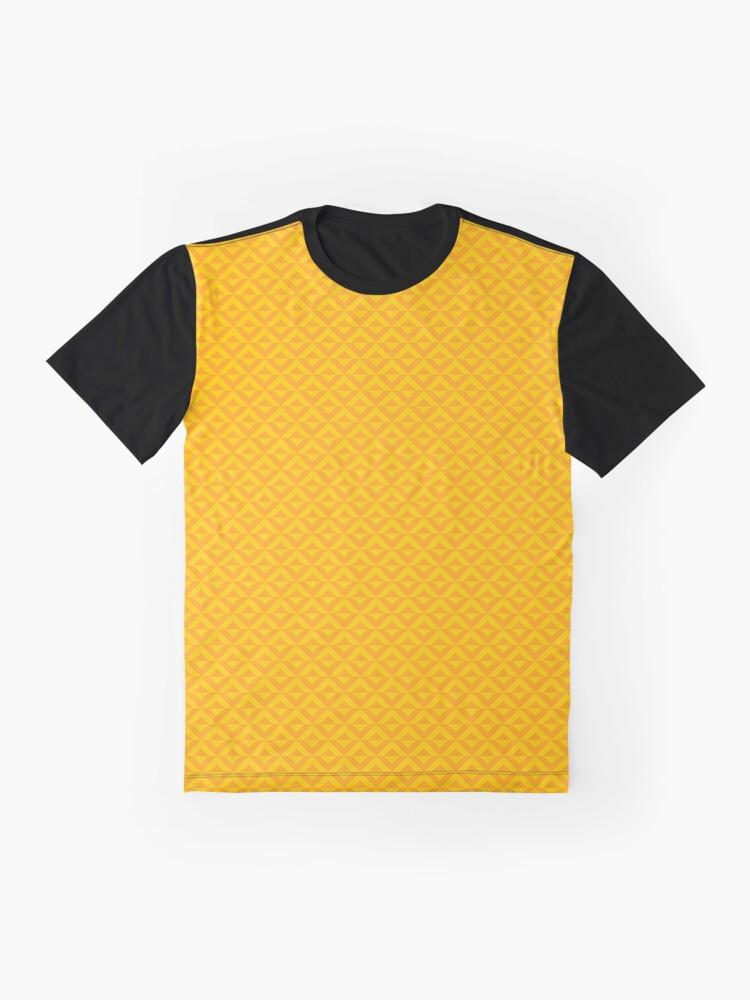 Alternate view of Geometric Pattern: Diamond Split: Yellow Graphic T-Shirt