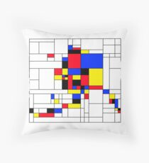 Alaska, Mondrian Style Throw Pillow