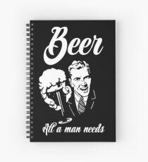 Beer - All a man needs Spiral Notebook