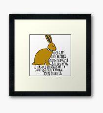 Ideas are Like Rabbits Framed Print