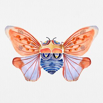 Cicada Dreaming-Watercolor by Jime-Creates