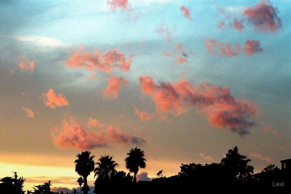 Whimsical Clouds At Sunset by Lexi