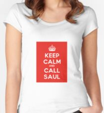 KEEP CALM AND CALL SAUL Women's Fitted Scoop T-Shirt