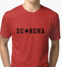 Scorcha - for Scorching Sunny Summer Days (Design Day 146) Tri-blend T-Shirt