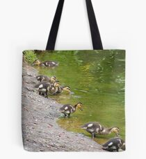 Lining Up Tote Bag