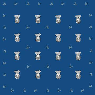 CK...Cute Koala, blue repeat by AngelCel