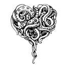 Tentacle heart - black von Schiraki