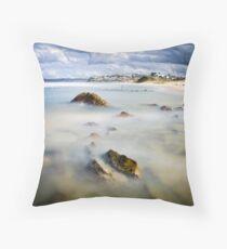 Bar Beach Throw Pillow