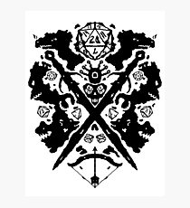 Roleplaying Rorschach Photographic Print