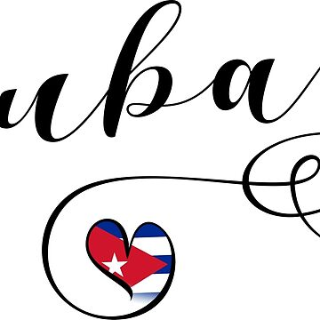Cuba Sticker, Heart Cuba, Cuban Flag by Celticana