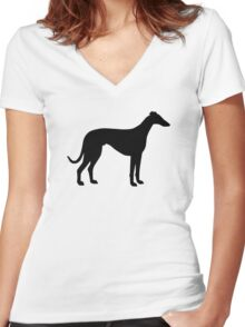 Greyhound Women's Fitted V-Neck T-Shirt