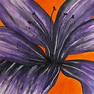 Purple Lily by George Hunter