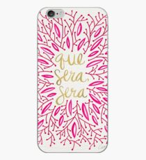 Whatever Will Be, Will Be (Pink & Gold) iPhone Case