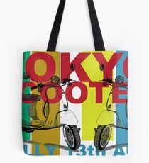 Tokyo Scooter Rally Poster  Tote Bag