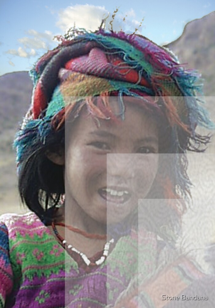 Girl in Tibet, color and overlays by Stone Bandana