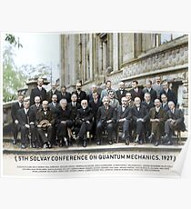 With names: 5th Solvay Conference on Quantum Mechanics, 1927.  Poster