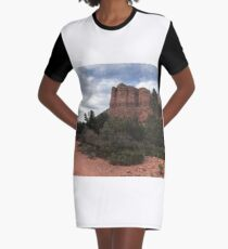Cliff face outside Sedona Graphic T-Shirt Dress