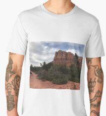 Cliff face outside Sedona Men's Premium T-Shirt