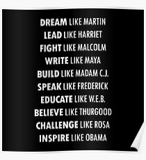 TRAUM Wie Martin INSPIRE Wie Obama Poster