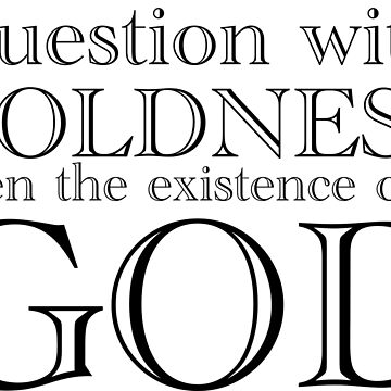 Question the Existence of God by Secularitee