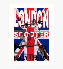 London Scooter Rally Art Print